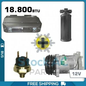 Air Conditioning Kit Perfect Fit For Truck Bus Cars W O A C 12v