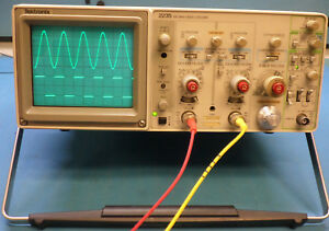 Tektronix 2235 100mhz Dual Trace Oscilloscope With Probes great Beginners Scope
