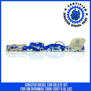 Sinister Diesel Egr Delete Kit For Gm Duramax 2006 2007 6 6l Lbz