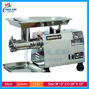 Electric Meat Grinder Commercial 2hp Stainless Heavy Duty Nsf Cooler Depot