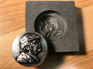 Donald Trump Graphite mold for Silver - Gold - Glass works Ingot casting Bronze