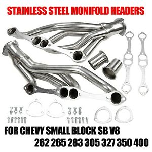 Stainless Steel Headers Fit Chevy Small Block Sb V8 262 265 283 305 327 350 400