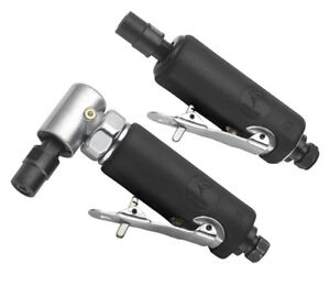 Atd 2pc 1 4 Straight And Right Angle Air Die Grinder Set 2122