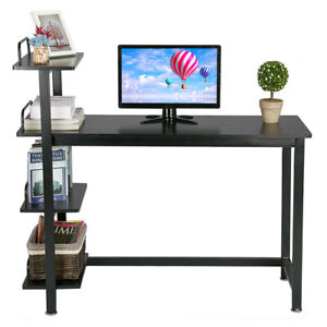 4 Tier Shelves Computer Desk Cart Writing Study Table Workstation Home Office