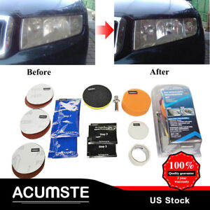 Professional Car Headlight Lens Restoration System Repair Polish Cleaner Tools