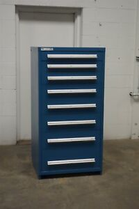 Used Stanley Vidmar 8 Drawer Cabinet Industrial Tool Storage 702