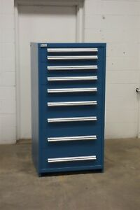 Used Vidmar 9 Drawer Cabinet Industrial Tool Storage Box 693