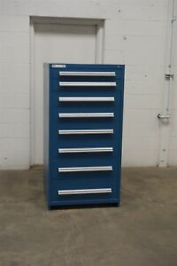 Used Stanley Vidmar 8 Drawer Cabinet Industrial Tool Storage 715