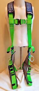 Dbi sala Exofit Xp Green Harness Back Front Side Drings Quick Connect Buckles Xl