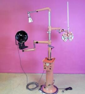 American Optical Ao Ophthalmic Instrument Stand Phoropter Ophthalmometer Light