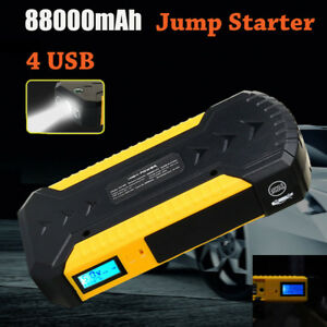88000mah Car Jump Starter 4 Usb Emergency Charger Booster Power Bank Battery 12v