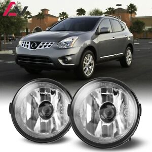 For Nissan Rouge 11 13 Clear Lens Pair Bumper Fog Light Lamp Oe Replacement Dot