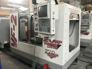Haas Vf 2 Vmc 1997 Brushless Servos Prog Coolant 20 hp Vector Drive