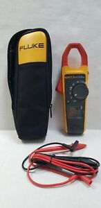 Fluke 373 True Rms Clamp Meter With Probes And Case