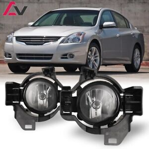 For Nissan Altima 10 12 Clear Lens Pair Oe Fog Light Lamp Wiring Switch Kit Dot