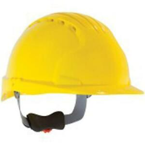 Safety Works Swx00371 Pro Cap Style Vented Hard Hat Yellow 6 Pack
