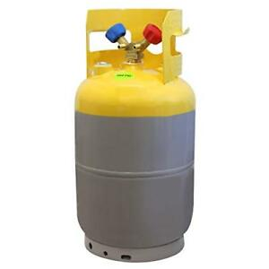 Mastercool 62010 Gray yellow Refrigerant Recovery Tank 30 Lb Capacity New
