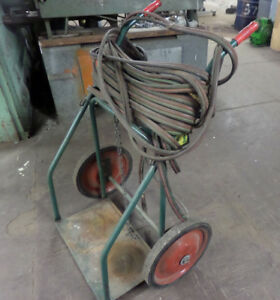Dual 22 Large Cylinder Welding Cart With 50 Hose