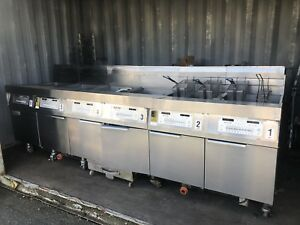 6 Unit Frymaster 3000 Fplhd665 Nat Gas Fryers W Built in Filtration Smart4u