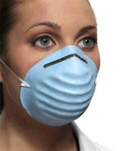 Crosstex Surgical Molded Face Mask Fiberglass free 50 box Blue gcbl