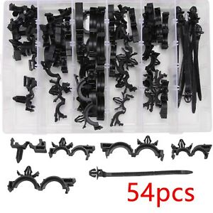 54 X Wiring Harness Wire Loom Routing Clips Assortment Convoluted Conduit For Gm