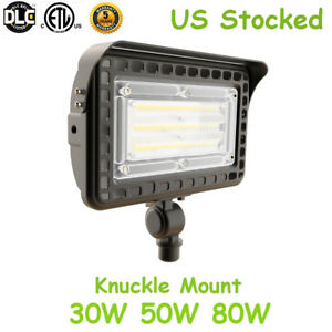30w 50w 80w Led Outdoor Flood Light Knuckle Mount Trunnion Security Light