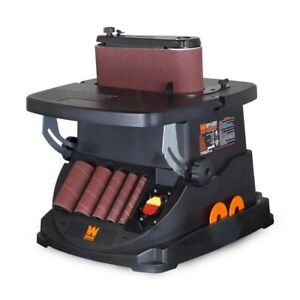 Oscillating Belt Spindle Sander Heavy Duty Lockout Switch Power Tool Combo Kit
