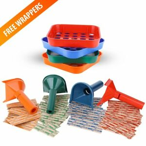 Coin Counters 4 Sorter Trays And 4 Tubes With 100 Roll Wrappers For Us Coins