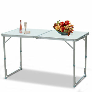4 Folding Table Portable Indoor Outdoor Picnic Party Dining Camp Tables Utility