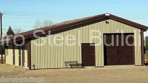 Durobeam Steel 60x88x10 15 Metal Single Slope Clear Span Barn Building Direct