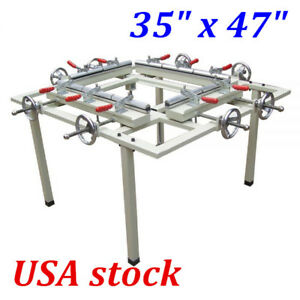 Usa Stock 35 X 47 Manual Screen Printing Stretcher Screen Stretching Machine