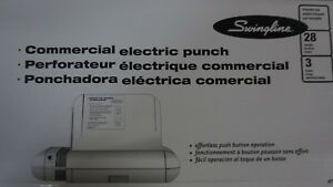 Swingline Commercial Electric Punch 3 Holes 8 1 2 Centers 28 Sheets a707453