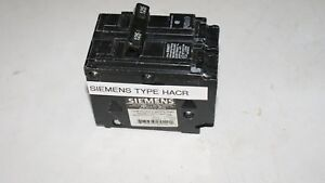 Siemens Breaker 125a Type Hacr 2 Pole Used