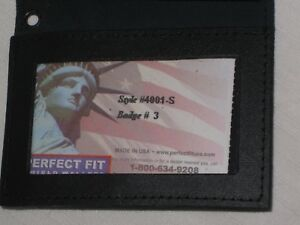 Perfect Fit Shield Wallet Style 4001 s Badge 3 Police Detective Wallet Holder