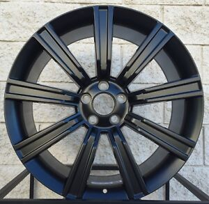 22 Range Rover Stormer Style Wheels Tires Package Satin Black Rims
