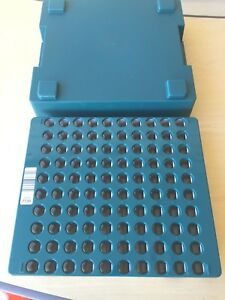 Test Tube Blood Sample Tray Plastic Storage Rack With Cover Stackable Holds 100