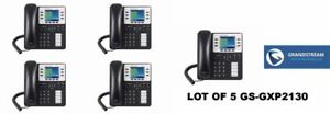 Office Pbx System W 5 Grandstream Gxp2130 Phones 2 Months Of Call Time