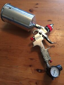 Used Hvlp Paint Spray Gun As1009 With Tank And Gauge