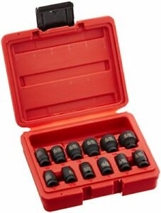 Sunex 1822 1 4 inch Drive Magnetic Impact Socket Set Metric 12 piece