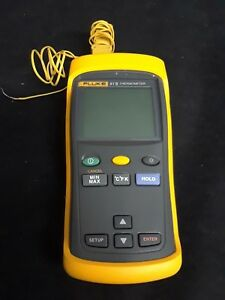 Fluke 51 Ii Digital Thermometer In Excellent Condition W K type Test Leads