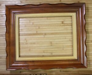 Antique True Vtg Frames Lot 5 Lg Distressed 4 16 X 20 1 16 X 18 Wood Gilt
