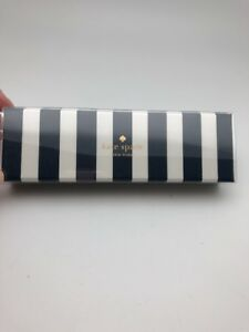 Kate Spade Ballpoint Pen Navy And Cream Stripe Black Ink New
