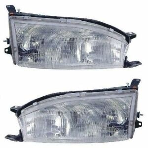 1992 1994 Toyota Camry Headlights Head Lamps Pair Left And Right