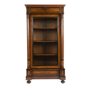 Circa 1880 French Walnut Single Door Bookcase Fully Restored Amazing Condition