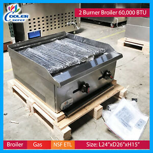 24 Radiant Broiler Char Grill Commercial Restaurant Use Nsf Cooler Depot