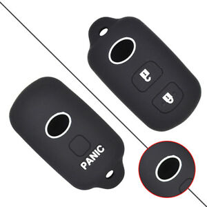 Silicone 2 Buttons Remote Fob Car Key Cover Holder For Toyota Prius Yaris Rav4