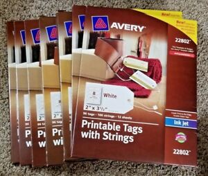 7 Avery 22802 Printable Tags With Strings 2 X 3 5