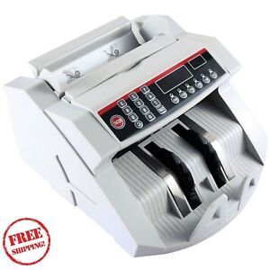 Cash Counting Machine For Money Currency Fast Accurate Counterfeit Bills Notes