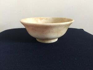 Antique Chinese White Jade Tea Cups Bowl Engraved Rinceau In Qing Dynasty