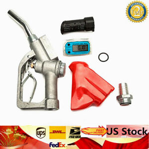Fuel Gasoline Diesel Petrol Oil Delivery Gun Nozzle Dispenser Flow Meter